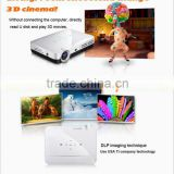 Portable Overhead convert 2D to 3D mini dlp led projector, Full HD 1280*800 Perfect 3D shutter DLP pico projector,