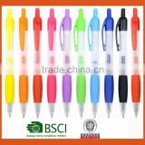 promotion logo plastic gift ballpoint pen with multicolor refill