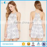 2016 Formal Printed Ornate Floral Cami Romper casual dress for women playsuit