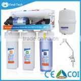 china factory 5 stage 75g household ro water purifier/ reverse osmosis drinking alkaline water filter system water
