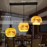 E27 vintage 3 head hanging ceramic lights pendant for bar counter for restaurant lighting