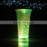 Double Wall Glowing Party Shot Cup with Lid Straw