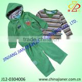 3pcs set infant Baby boy winter Wear blouse with t-shirt and pant