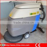 Push behind type hand electric floor scrubber