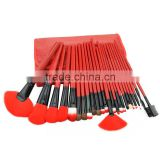 High Quality Original Chinese Red Color Professional 24pcs/set Cosmetic Brush Kit Make Up Tools Accessories Makeup Brushes