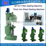 Used Condition and Metal Packaging Material FILTER SEAMER Sealing Machine
