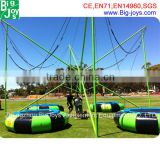 China new cord rope commercial wholesale bungee jumping trampoline for outdoor and indoor using