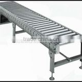 single chain driving straight gravity roller conveyor,motor driving rolling conveyor