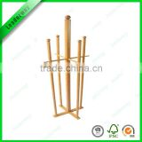 new hot bamboo wholsale free standing display rack