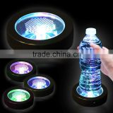 2016 new wholesale led Color Changing Light Up Bottle Drink Cup Mat for Bar Club Party fancy