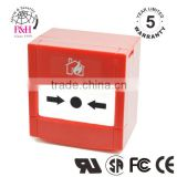 Red Intelligent addressable manual call point for fire alarm system