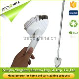 Triangle rotating detachable aluminium pole long handle scalable telescopic plastic floor brush for tile