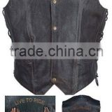 Motorbike Leather Fashion Vest