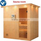 2015 China Factory best price 6 person sauna room with sauna heater