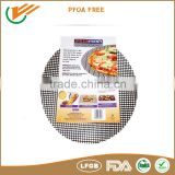 food grade ptfe(teflon) coating FDA, LFGB, SGS approved pizza crisping cooking mesh sheet