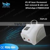 Breast Lifting Up Ipl Rf Shr1200WIPL System Hair Removal Beauty Equipment IPL Remove Tiny Wrinkle RF Laser Permanent OPT Hair Removal & Skin Care Machine POP-E3 1200w