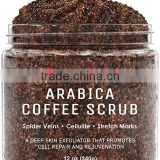 100% Natural Arabica Coffee Body Scrub with Organic Ingredients Best for Stretch Marks , Acne , Anti Cellulite & Spider