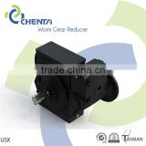 USX small worm gearbox 90 degree strong packing worm gear speed reducer flange putput shaft engine with small reducer