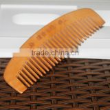 Wholesale Different Shape Of Natural Sandalwood Comb Popular Natural Health Care Comb Anti-static Peach Wood Hair Comb