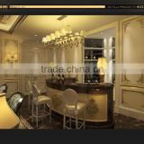 Bisini Three D Rendering Design For Bar Room, European Style 3D Rendering Interior And Exterior Service
