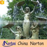 Customized garden three nude women large bronze fountain NTBF-MF014Y