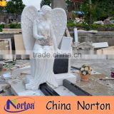 hand carved granite angel cemetery monuments NTGT-435A