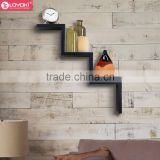 wood floating shelf home wall decor wholesale Shelving Solution Ladder Type Shaped Wall Shelf
