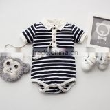Polo Baby Shirt Designs Romper White With Black Stripe Clothing Baby Wear Clothes