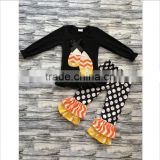 Remake Halloween Candy Cotton Ruffle Pants Boutique Outfit