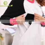 wholesale maternity nursing top breastfeeding with double layer 2018 spring maternity wear AK038