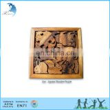 China Manufacture Custom 3D Wooden Brain Teaser Puzzle Zoo-Jigsaw Wooden Puzzle for Adult Gifts