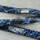 custom double sides printed elastic ribbon