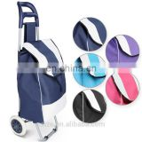 Shopping Trolley Bag Grocery Folding Shopper Cart Wheel Foldable Lightweight Trolley Bag