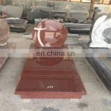 India red granite headstone