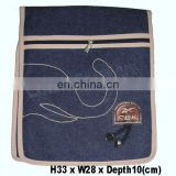 denim fabric shoulder bag
