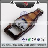 Wholesale OEM Items Custom Cheap Sublimation Type And Music Style Hard ABS Plastic Vintage Bottle Shape Bottle Opener