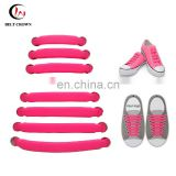 Promotional gifts customized lazy elastic no tie 100% silicone shoelaces