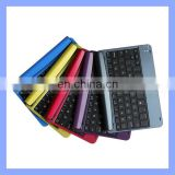 Colorful Ultra Thin Aluminium Bluetooth Keyboard Case for iPad Mini Keyboard