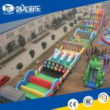 crazy fun inflatable obstacle climb slide race games giant obstacle course for amusement park