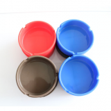 Silicone Ashtray Smoking Set Silicone Ashtray Custom logo Round Silicone Smoke absorbing ashtray