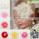elastic hair bands baby flower Yarn china wholesale baby wedding accessories MY-AB0027