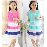 Summer Wear Dress Chiffon Korean color children dress Kid Dress