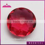 red rose cut glass stones for jewelry
