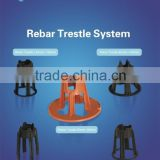 plastic pp raw material rebar trestle/chair in many colours (black,blue,orange etc.)