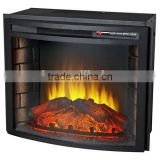"CSA approved 23"" Curved Brick LED and Infrared Electric Fireplace"