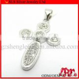2012 attractive sterling silver cross pendant
