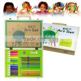 Eco creative natural wooden gift box rainbow art set