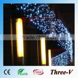4*0.75M 140LEDs CE ROHS SAA approved large LED Christmas outdoor falling icicle lights for roof 220V/110V