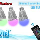 2.4G LED RGB Bulb with Remote Control System Color temperature and brightness adjustable