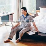 Noya Customized ZM 0038 Men Silk Two-piece Pajamas Set